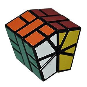 HJXD Magic Cube Set of 5 Pack Include 1x3x3+Square 1+ Skewb+Mastermorphix+Fisher Cube