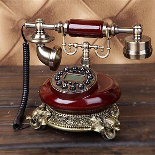 LILI Antique Telephone Wooden Vintage Fashion Corded Dial Phone Set Antik Retro Home Accessory Decor Vintage Landline from LILISHANGPU