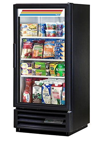 True GDM-10-HC-LD Single Swing GLASS Door Merchandiser REFRIGERATOR with Hydrocarbon Refrigerant and LED Lighting, Holds 33 degree F to 38 degree F, 53.5' Height, 23.125' width, 24.875' Length
