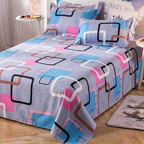 JFPA Taie d'oreiller de lit Motif Décor Textile de Maison Literie Coverlet Drap Plat Fleur Housse de Lit Drap de Lit