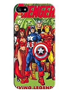 iphone 5/5s Case Cover, Popular Marvel Comics Avengers,TPU, Colorful, The Most fashionable Design