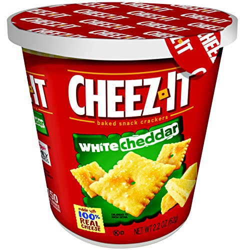 Cheez-It Baked Snack Cheese Crackers in a Cup, White Cheddar, Single Serve, 2.2 oz