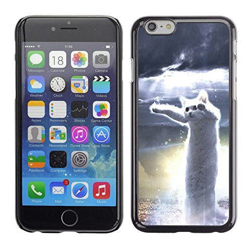 Caoutchouc Hard Case Shell Housse de protection Accessoire BY RAYDREAMMM - Apple iPhone 6 - Dancing Cat White Hero Meme Web