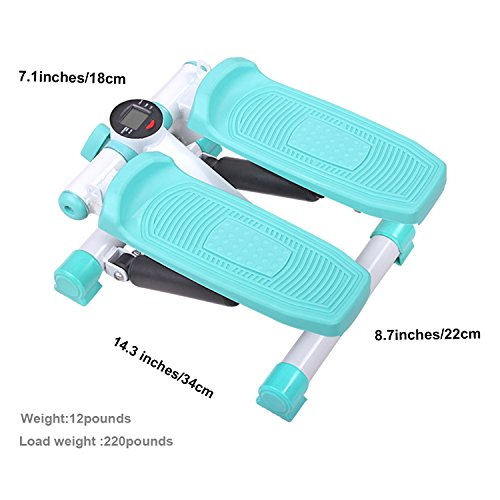 D Dr. Health Home Use Mini Stepper fitness equipment with Resistance Bands,Blue