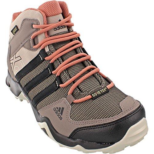 Adidas outdoor donne ax2 metà gore - tex scarpone da montagna, vapore grigio