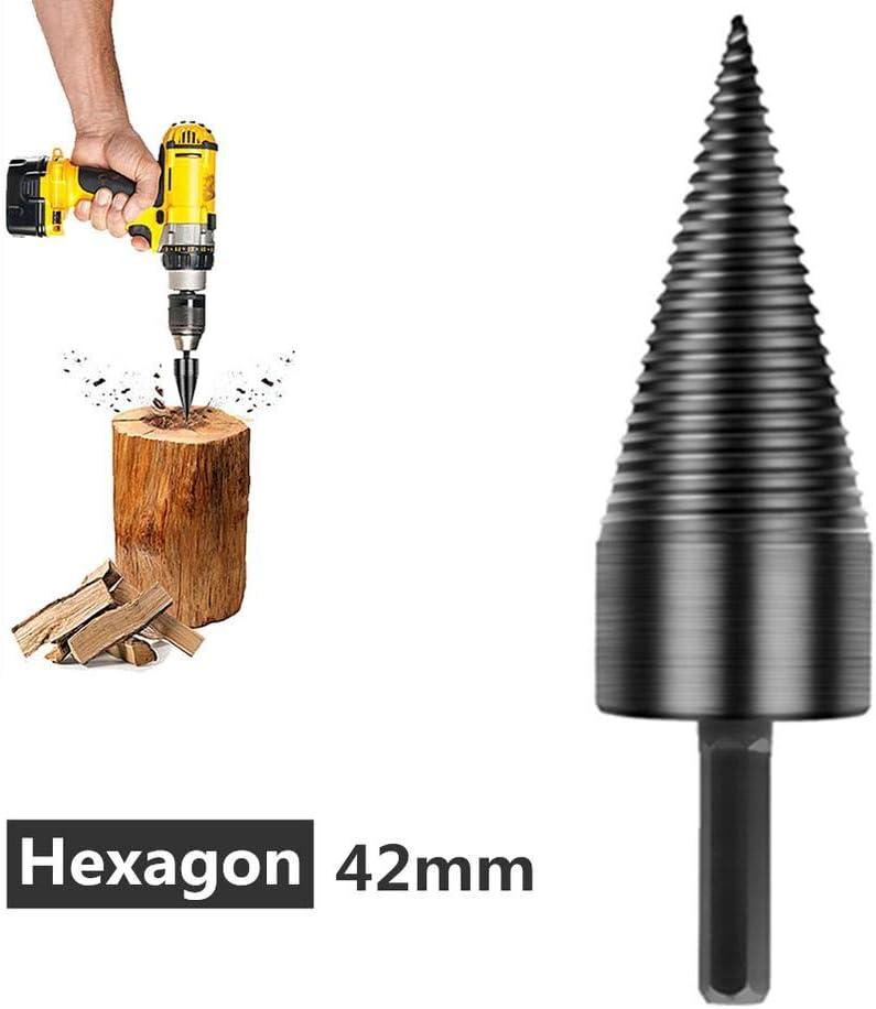 3 Tipos para Diferente Taladro El/éctrico Trabajo Eficiente para Hogar//Granja Cono de Tornillo de Acero de Alta Velocidad Alta Resistencia para Madera Dura//Blanda Broca de Madera para Troncos