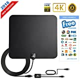 TV Antenna For Digital TV Indoor 50-70 Mile 1080P HD Antenna Indoor 2018 Upgraded Version-High Perform TV Antenna Amplifier Better Reception (FCC Certified)