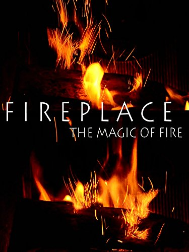 Fireplace. The Magic of Fire - Burning Fireplace