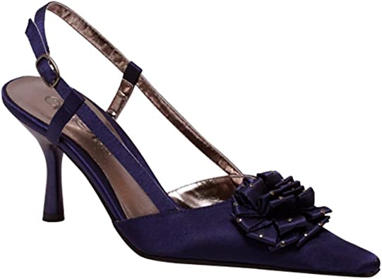 Wild Rose Pointy Toe Sling-Back Ankle