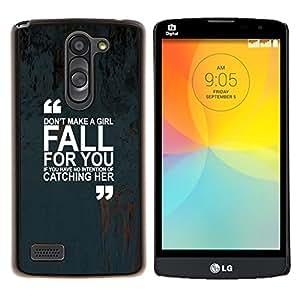 Dragon Case - FOR LG L Bello L Prime D337 - girl love quote marks text inspiring - Caja protectora de pl??stico duro de la cubierta Dise?¡Ào Slim Fit