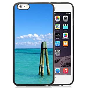 New Beautiful Custom Designed Cover Case For iPhone 6 Plus 5.5 Inch With Pure Blue Ocean Triangle Tripod Phone Case