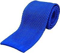 Royal Blue Plain Knitted Silk Tie by David Van Hagen