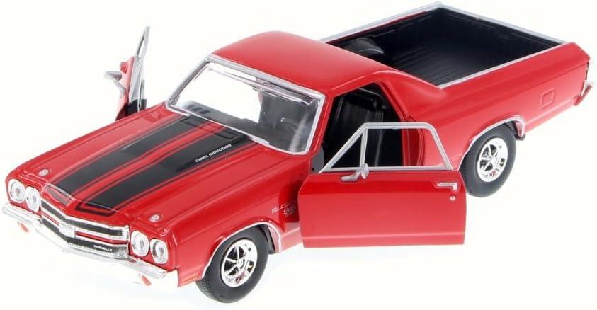 Amazon Com Motormax 79347rd 1970 Chevrolet El Camino Ss 396 Red 1