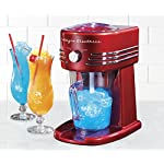 Nostalgia FBS400RETRORED Retro 40-Ounce Frozen Beverage Station 4 40-ounce pitcher Unit simultaneously shaves ice and stirs for perfectly mixed drinks Two shaving settings produce snow or slush ice textures