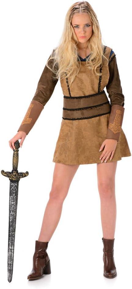 Disfraz de Vikingo para Mujer, para Carnaval: Amazon.es: Juguetes ...