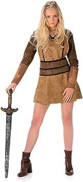 Karnival Costumes – Disfraz de vikinga para Mujer, Talla 40 – 42 ...