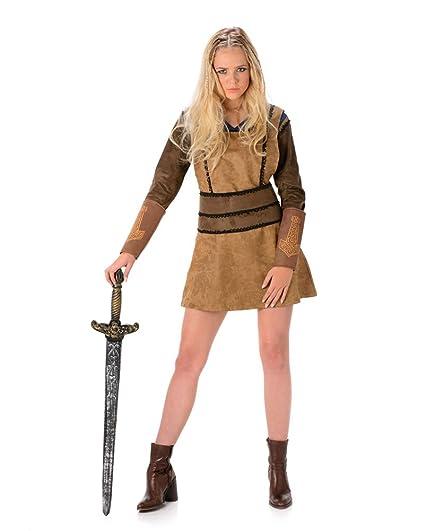 Karnival Costumes – Disfraz de vikinga para Mujer, Talla 40 – 42 (81072)