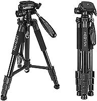 Heoysn Trípode Cámara Réflex, Trípode Completo Profesional 143cm de Aluminio con Placa Rápida Liberación, Trípode Ligero de Viaje para Canon Nikon Sony Panasonic Cámara DSLR.