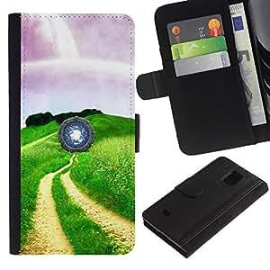 JackGot ( Visione fresca ) Samsung Galaxy S5 Mini (Not S5), SM-G800 la tarjeta de Crédito Slots PU Funda de cuero Monedero caso cubierta de piel