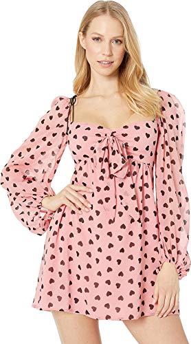 for Love and Lemons Women's Tallulah Swing Dress Pink Small