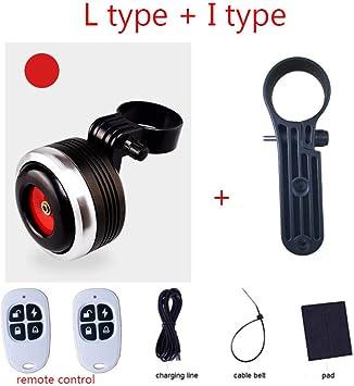 ROMORAR Timbre Ticicletas Cargador USB 1300mAh Bicicleta Campana Cuerno el/éctrico con Alarma Sonido Fuerte para M365 MTB Bicicleta Manillar Alarma antirrobo de Seguridad