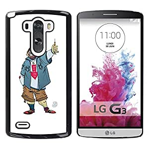 "For LG G3 Case , Tío Chico Hombre Penal Caricatura Sonrisa"" - Diseño Patrón Teléfono Caso Cubierta Case Bumper Duro Protección Case Cover Funda"