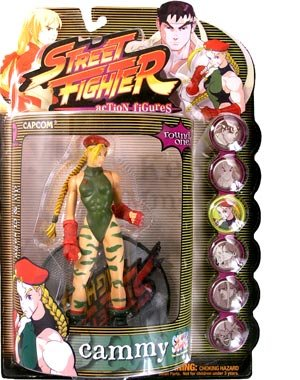 Street Fighter Round 1 Cammy Action Figure (Player One - Green - Las Vegas North Mall