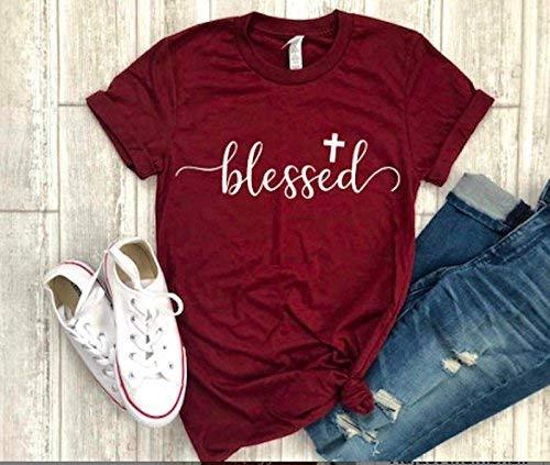 blessed shirt religious tee thanksgiving t-shirt cross tee christian shirt