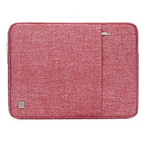 "NIDOO 14 Inch Laptop Sleeve Water-Resistant Computer Case Portable Bag for 14"" Notebook / 14"" Lenovo ThinkPad E480 T470 E470 / Flex 6 / 13.5"" Microsoft Surface Book, Red"