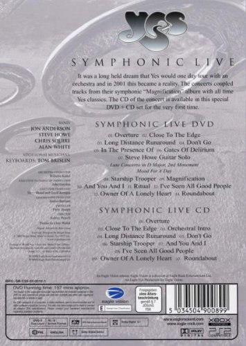 Yes - Symphonic Live [DVD]: Amazon.es: Yes, Yes: Cine y Series TV