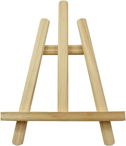 SUPVOX Caballete de madera Mesa de caballete Mini pantalla de ...