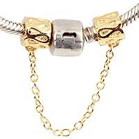 Cadena de seguridad de plata de ley 925 para pulsera de charms de Pandora