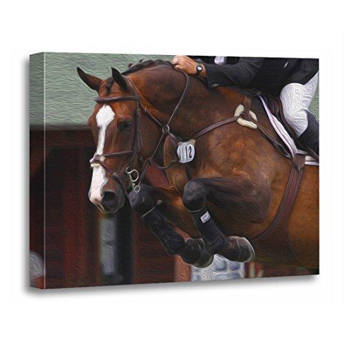 TORASS Canvas Wall Art Print Equestrian Horse Show Jumping Grand Prix Jumper Sports Artwork for Home Decor 16