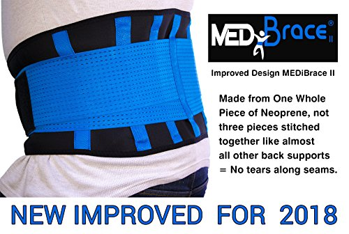 Back Support Brace, Lower Lumbar Belt MEDiBrace II (Medical Grade) Pain & Discomfort Relief from Sciatica, Backache, Slipped Disc, Hernia, Spinal Stenosis, Spine Injury Prevention | Posture Corset by ProfessorZ (Image #3)