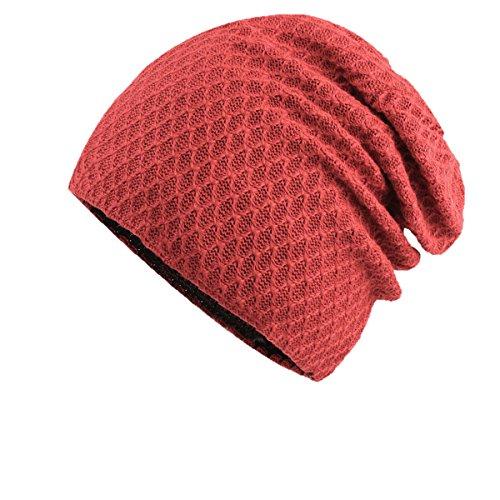GEXING Sombrero Para Mujer De Los Hombres Sombrero De Invierno Caliente De Lana Sombrero De Lana De Invierno Sombrero De Algodón Para Jóvenes Sombrero De Cabeza Sombrero De Invierno Red