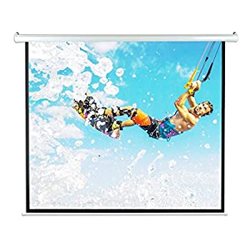 "Pyle 84"" Motorized Projector Screen, Electronic Automatic Display, Includes Remote Control (PRJELMT86)"