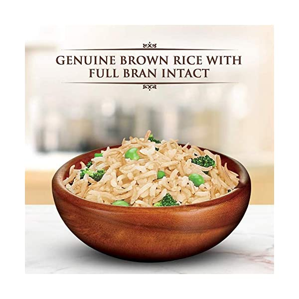 Daawat Brown Basmati Rice, 1kg Jar 2021 June It is made using the unique hydration enhancement technology (HET) which moisturizes the bran layer This helps water penetrate the grain easily while cooking, so you can serve wholesome brown rice goodness in just 15 minutes Country of Origin: India