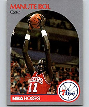 da6976ae6 Amazon.com  1990-91 Hoops  424 Manute Bol 76ers NBA Basketball ...