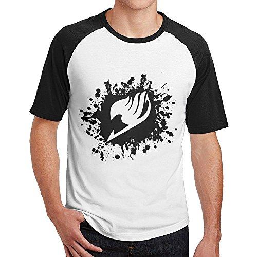 TisEEaZs Mens Tshirt-Funny Fairy Tail Logo Black XL