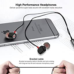 In-Ear High Definition Earbuds Remote Control with Microphone Headphones
