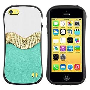 "Hypernova Slim Fit Dual Barniz Protector Caso Case Funda Para Apple iPhone 5C [Oro Blanco Brillante Moda Moda""]"