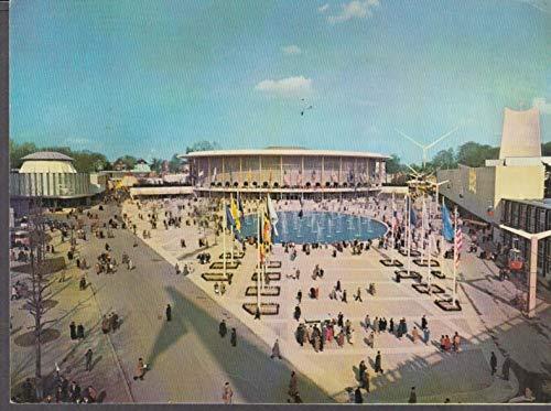 Exposition Universelle de Bruxelles Brussels USA Pavilon by day 1958 postcard