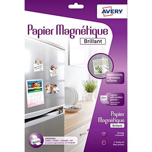 best Avery – 3 hojas de papel magnético brillante calidad de foto ...