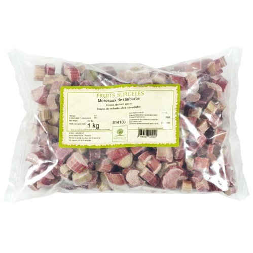 Rhubarb, IQF, Pieces, Frozen - 1 bag - 2.2 lbs by Ravifruit