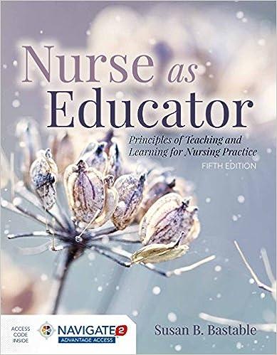 nurse as educator bastable test bank