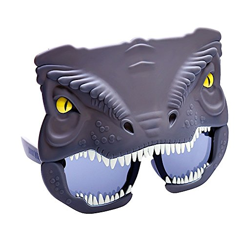 Costume Sunglasses Jurassic World Blue Raptor Sun-Staches Party Favors UV400 -