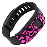 French Bull - Fitbit Charge/Fitbit Charge HR Slim Designer Sleeve - Band Cover (Pink)