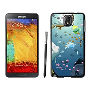 Fashionable Custom Designed Cover Case Samsung Galaxy Note 3 N900A N900V N900P N900T With Cartoon Underwater World Phone Case Cover