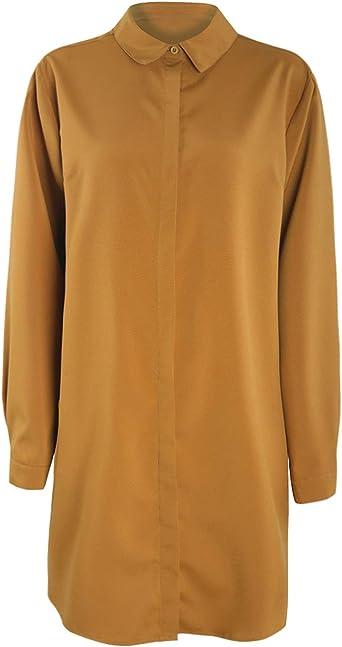KISSMILK Camisa básica con Botones Invisibles, tamaño Grande ...