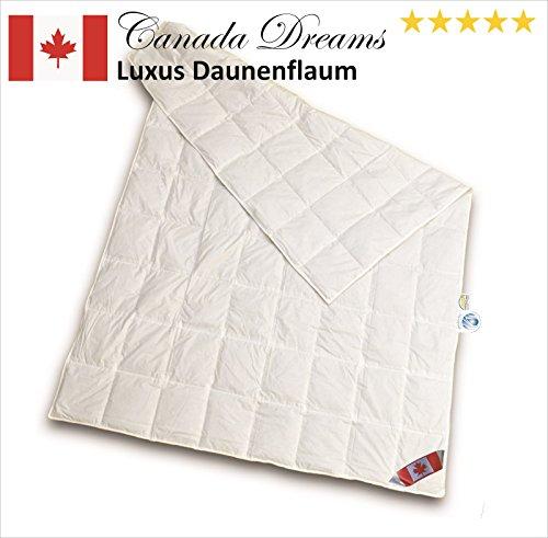 canada dreams luxus sommerbett daunendecke w rmegrad 1 luxus daunenflaum bettmix. Black Bedroom Furniture Sets. Home Design Ideas